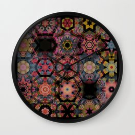 Quilted Contemporary  Wall Clock