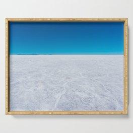 Wide Open Spaces, Salar de Uyuni Salt Flat, Bolivia Serving Tray