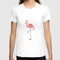 flamingo T-shirts featuring Flamingo by Pati Designs