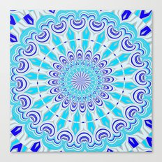 mandala blue Canvas Print