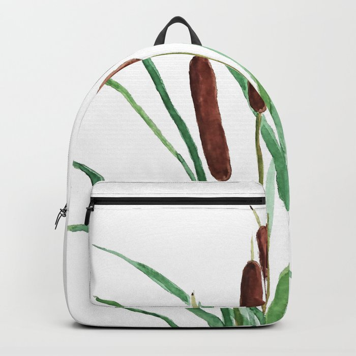 cattails plant Backpack