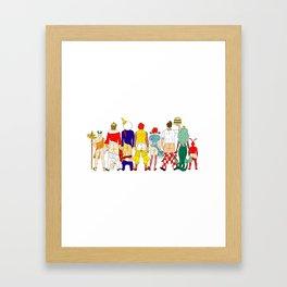 Fast Food Butts Mascots Framed Art Print