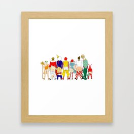Fast Food Butts Mascots Framed Art Print