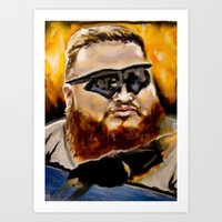 action bronson Art Prints featuring action bronson by charles lee