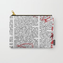 Hebrew News Papper Carry-All Pouch