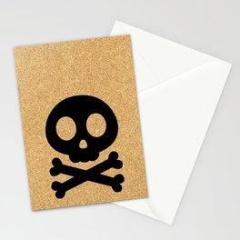 cork paper skelton Stationery Cards