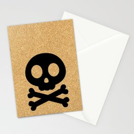 cork paper skelton Stationery Cards