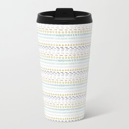 Line Dot Line Triangle Travel Mug