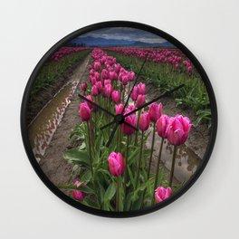 Pink Impression Wall Clock
