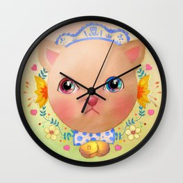 Cat you put the universe in the eyes Wall Clock