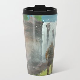 HK Bokuto's waterfall Metal Travel Mug