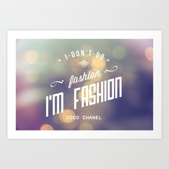 Bokeh fashion Art Print
