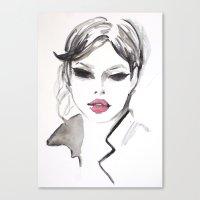 fashion illustration Canvas Prints featuring Fashion illustration by Colorshop