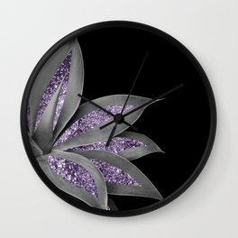 Agave Finesse Glitter Glam #3 #tropical #decor #art #society6 Wall Clock