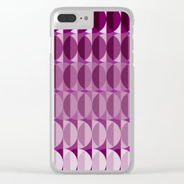 Leaves at midnight - a pattern in aubergine Clear iPhone Case