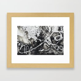 Black & White watercolor Painting Framed Art Print