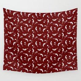 Roses & Revolvers // Maroon Wall Tapestry