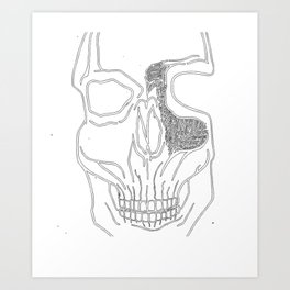 """Brains Brewing"" Skull Design by Warwick.Art Art Print"