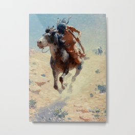 "William Leigh Western Art ""Indian Rider"" Metal Print"
