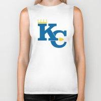 kansas city Biker Tanks featuring Kansas City Sports Blue by Haley Jo Phoenix