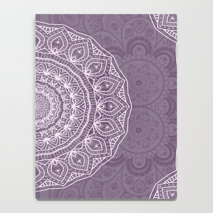 White Lace on Lavender Notebook
