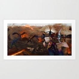 War in Heavens Art Print