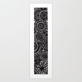 Mandala Vertical Art  Art Print