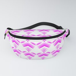 Pastel pattern of pink hearts and flowers on a white background. Fanny Pack