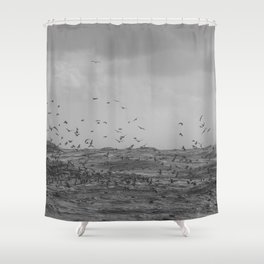 A perfect storm - Hampton Style Shower Curtain