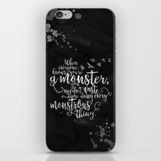 Six of Crows - Monster - Black iPhone & iPod Skin