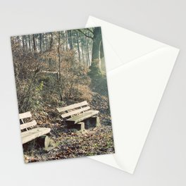 Strategically shaped logs Stationery Cards