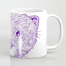 Otter Head Lightning Bolt Drawing Coffee Mug