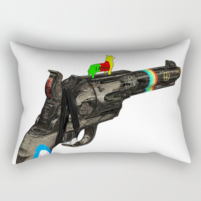 HIPPY GUN Rectangular Pillow