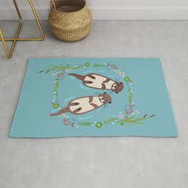 Otter and Plants Rug