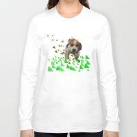 beagle Long Sleeve T-shirts featuring Beagle by MinnaEleonoora