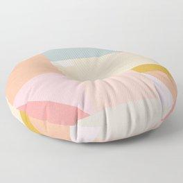 Pastel Geometric Graphic Design Floor Pillow