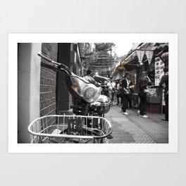 Tian Zi Fang Bike Art Print