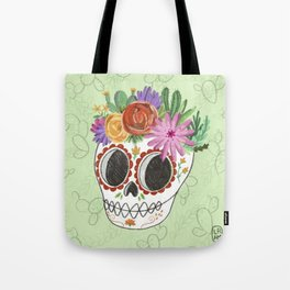 Fridita with flowers Tote Bag