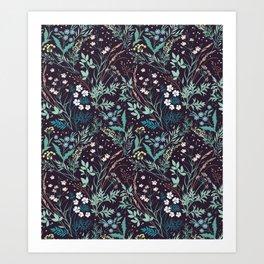 Meadow pattern. Art Print