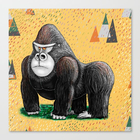 Endangered Rainforest Mountain Gorilla Canvas Print