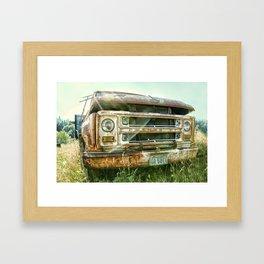 Vintage Chevy Truck Framed Art Print