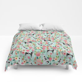 Great Dane dog breed florals mint pattern print for dog owner with great dane must have gifts Comforters