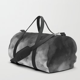 Ombre Black White Clouds Minimal Duffle Bag