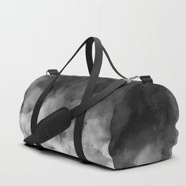 Ombre Black White Minimal Duffle Bag