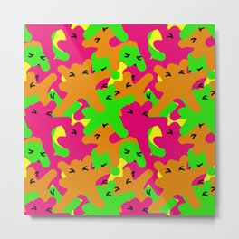 Stains of fluorescent color Metal Print