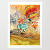 balloons Art Prints featuring Balloons by takmaj