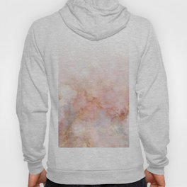Beautiful Pink and Gold Ombre marble under snow Hoody