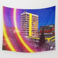 shining Wall Tapestries featuring SHINING BRIGHT by Michelito
