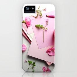 Pink Poem iPhone Case