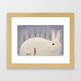 Winter morning Framed Art Print